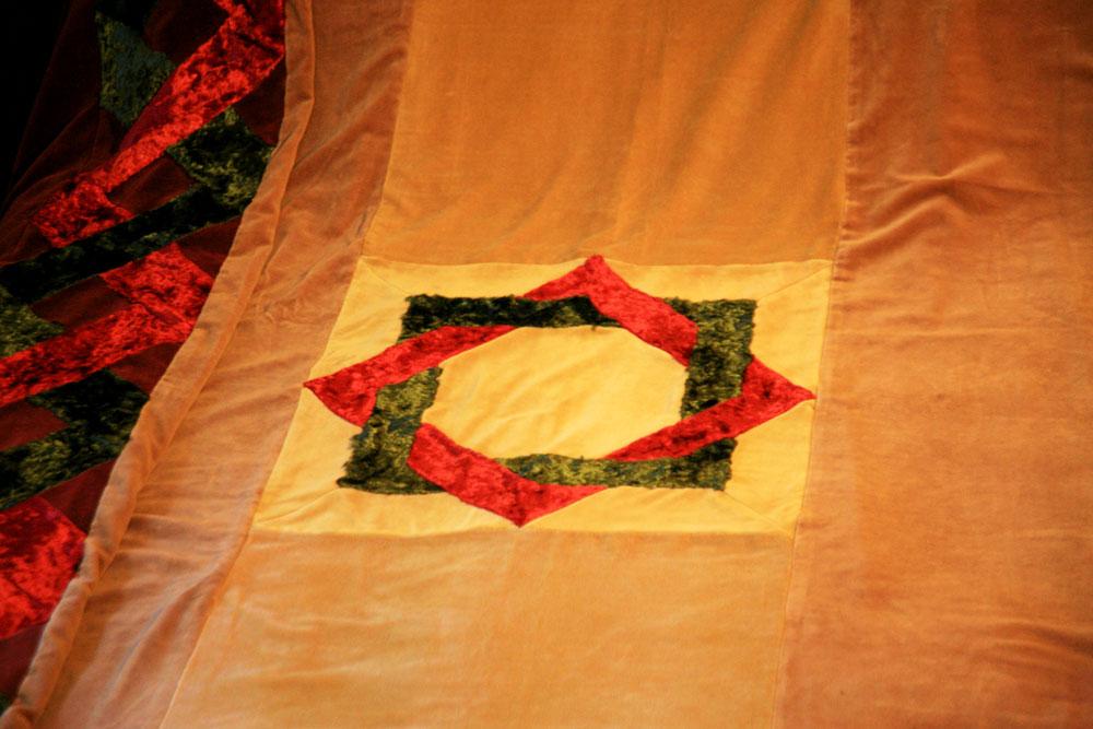 Velvet quilt detail
