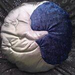 Silver moon cushion