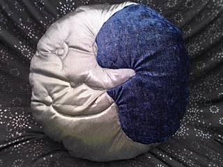 Silver moon cushion